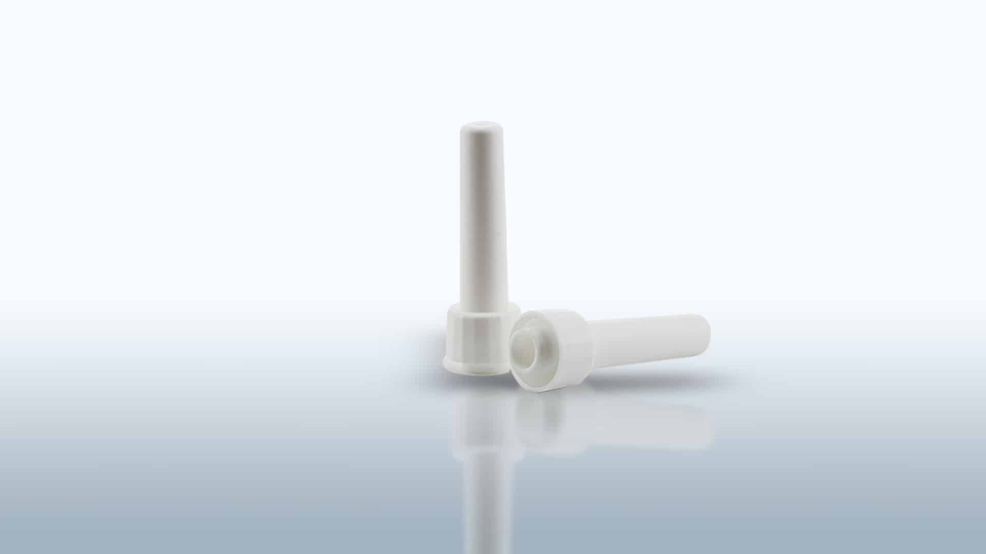Applicators for rectal and vaginal liquids and creams. Screw or snap-on. Single and strip flow pack packaging