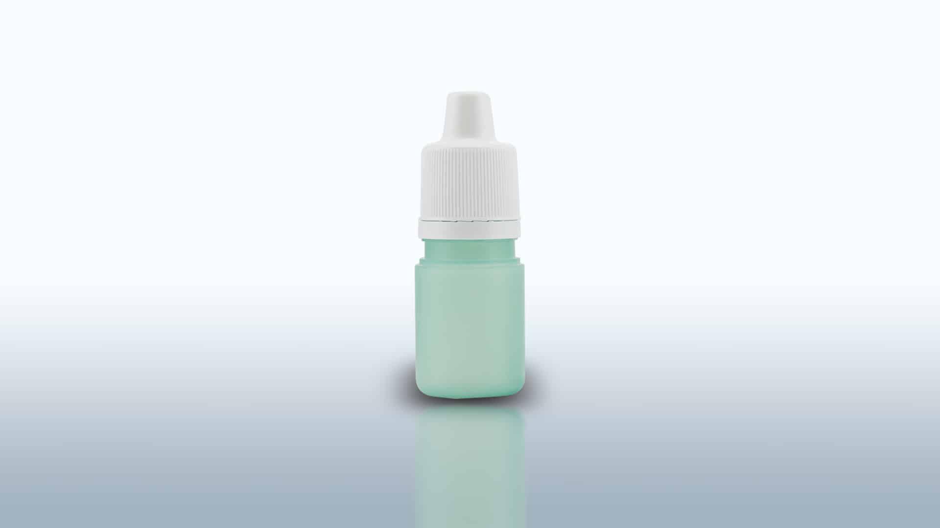 Packaging oftalmico composto da flacone LDPE, inserto contagocce, capsula con sigillo. Capacità flacone da ml 5 a ml 15.