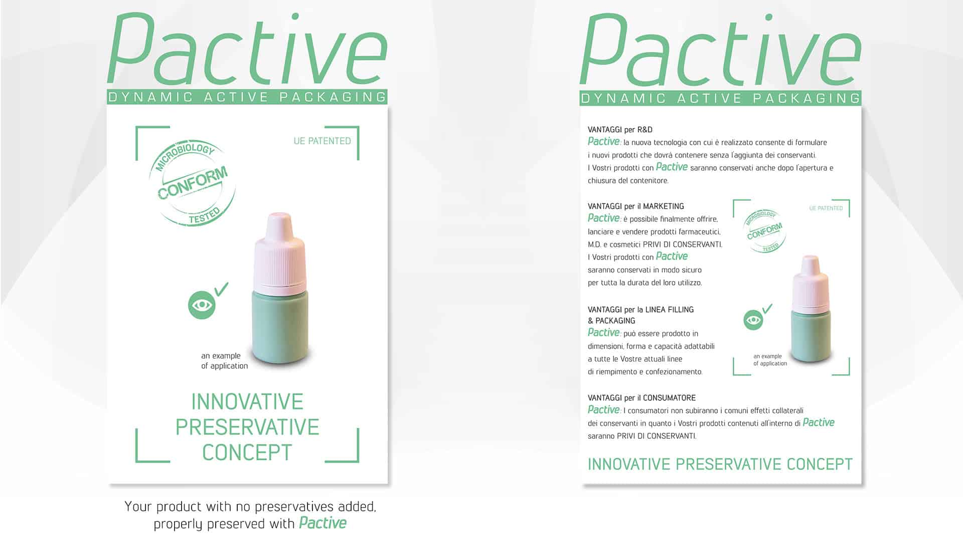 Innovative preservative concept di packaging primario.